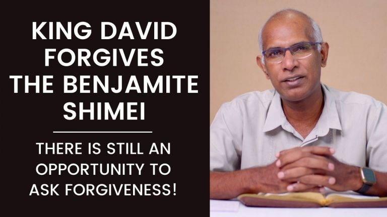 King David Forgives Benjamite Shimei by Finney Samuel